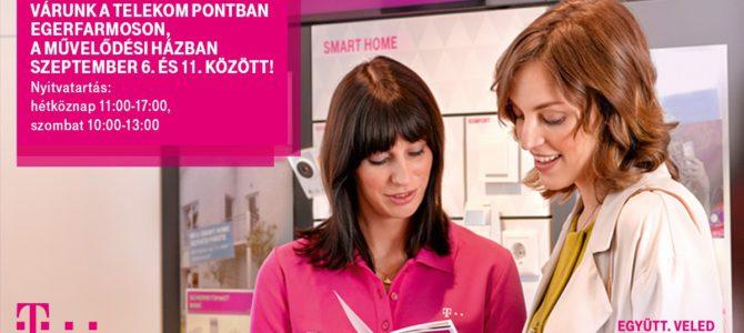 A művelődési házba jön a Telekom pont szeptember 6. és 11. között