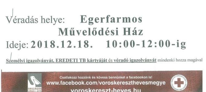 Véradás 2018.12.18 10:00-12:00